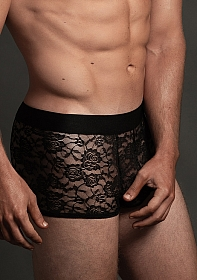 Lace Boxer - Black