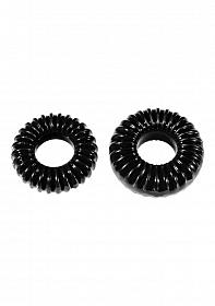 PF Blend Premium Stretch Ribbed Ring 2-pack - Black