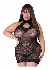 Captivate Plus Size Mini Dress One Size Curve - Black