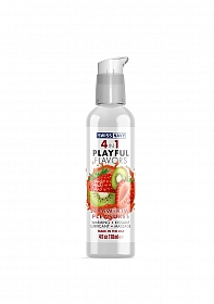 Playful 4 in 1 Lubricant with Straw-Kiwi Pleasures Flavor - 118ml