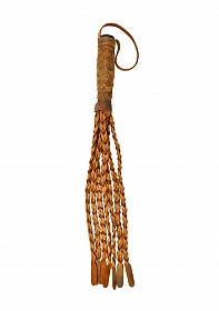 Braided 15 Tails with 6 Handle - Italian Leather