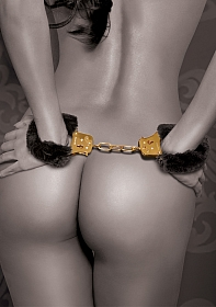 Deluxe Furry Cuffs - Gold