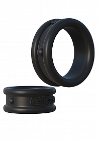 Max-Width Silicone Rings - Black