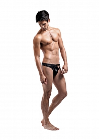 Buckle Thong - Black Cire