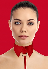 Classic Collar with Leash - Red
