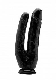 Realistic Double Cock - 10 Inch - Black