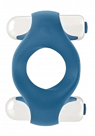 Infinity - Double Vibrating Cockring - Blue