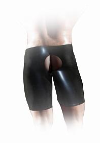 Latex Unisex Fisting Short - Black - L/XL