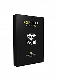 Level Popular Condoms - 24x