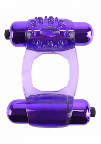 Duo-Vibrating Super Ring - Purple