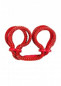 Japanese Silk Love Rope Wrist Cuffs - Red