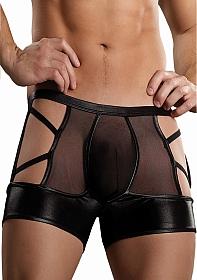 Criss Cross Butt Short - Black