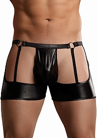 Garter Short w/rings - Black