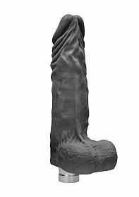 10� / 25 cm Realistic Vibrating Dildo With Balls - Black
