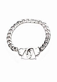 Cuff Him Handcuff Bracelet - Silver